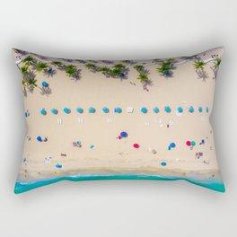 USA Photography - Miami Beach From Bird Perspective Rectangular Pillow