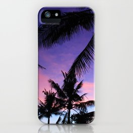 The Perfect Palm Sunset in Bali iPhone Case