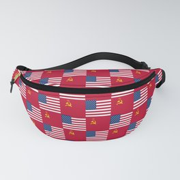Mix of flag:  Usa and USSR Fanny Pack