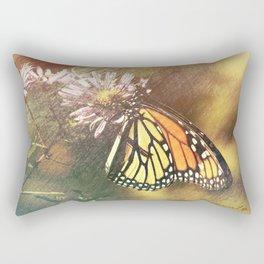 Butterfly on Milkweed Rectangular Pillow