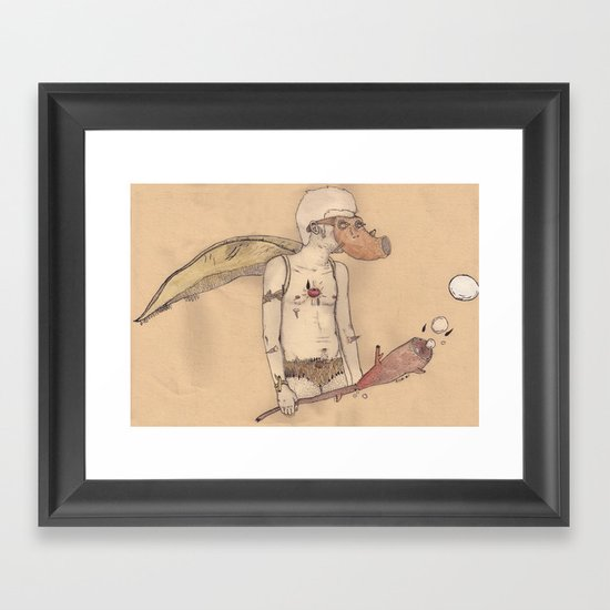 MT man Framed Art Print