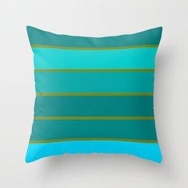 Teal Stripes Throw Pillow