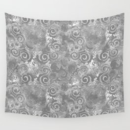 Lace Grunge on Gray Wall Tapestry
