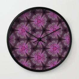 Glowy Butterflies–Pink & Magenta Palette Wall Clock