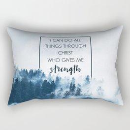 Forest Philippians 4:13 Rectangular Pillow