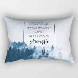 Forest Philippians 4:13 Rectangular Pillow