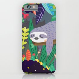 Sloth in nature iPhone Case