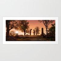Hilltop Ruins Art Print