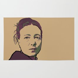 Simone de Beauvoir Rug