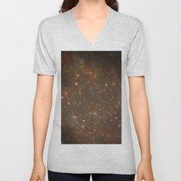 Rosettes Star Splattered Canvas Unisex V-Neck