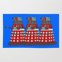 doctor who Area & Throw Rugs featuring Doctor Who by Alli Vanes