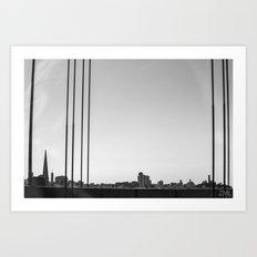 Silhouette of a Utopia Art Print