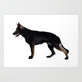 German Shepherd: Black Sable Art Print