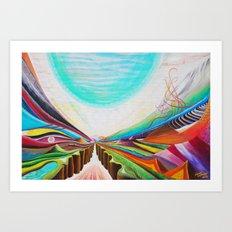 Moon Valley Art Print