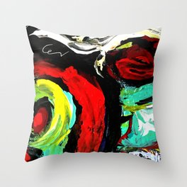 Abstract-blessing Throw Pillow