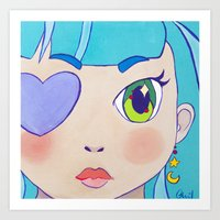 magical girl Art Prints featuring Magical Girl by Chanael Burat