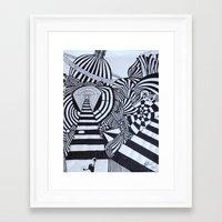 ninja Framed Art Prints featuring Ninja by Biancasigns