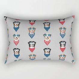 Australian Shepherd summer sunglasses bandana pure breed dog gifts Rectangular Pillow