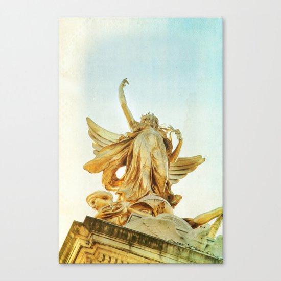 sister golden hair Canvas Print