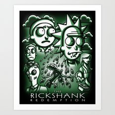 The Rickshank Redemption Art Print