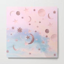 Pastel Starry Sky Moon Dream #2 #decor #art #society6 Metal Print