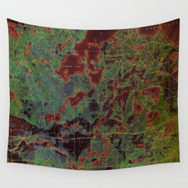 Pillager old map year 1916, american old maps Wall Tapestry