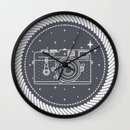Camera with stars Wall Clock