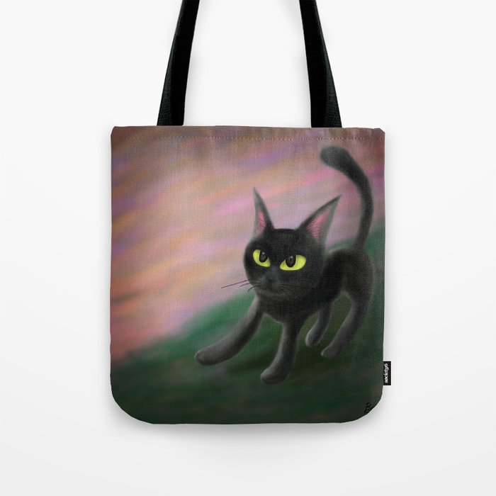 Kitty in riverside Tote Bag
