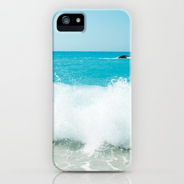 Minimal turquoise ionian wave - Porto Katsiki beach iPhone Case