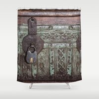 antique Shower Curtains featuring Antique Clasp by Bestree Art Designs