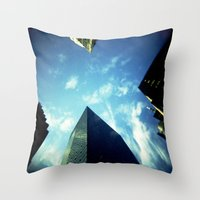 building Throw Pillows featuring Building by Jacquie Fonseca