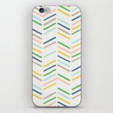 Mixed Herringbone - in Emerald iPhone & iPod Skin