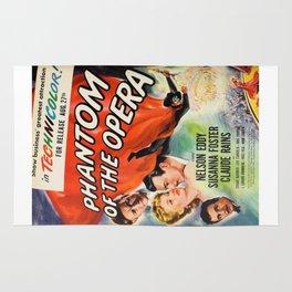 vintage horror movie poster Rug