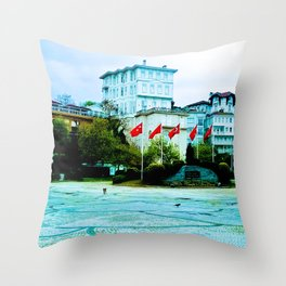 The entrance to the island. Throw Pillow
