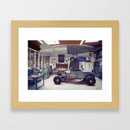 Hot Rod Garage Framed Art Print