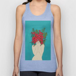 Blooming Red Unisex Tank Top