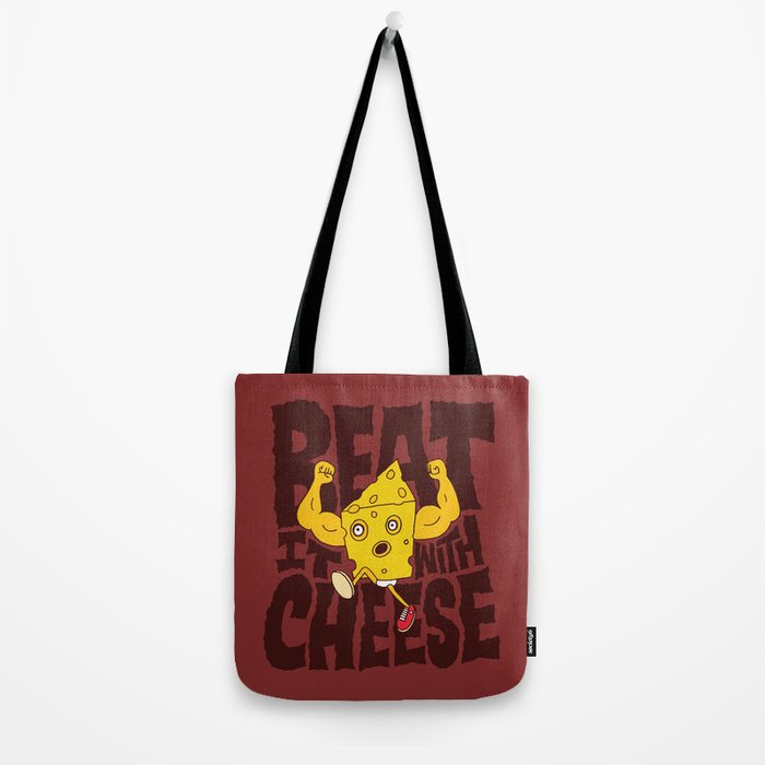 Beat it with Cheese Tote Bag