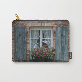 Window and Flowers Carry-All Pouch