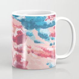 Blue and Pink Cloudy sky Coffee Mug