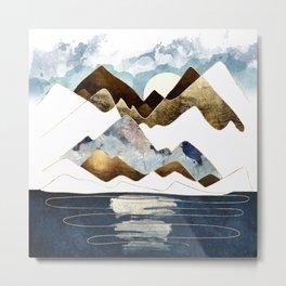 Minimal Abstract Mountains Metal Print