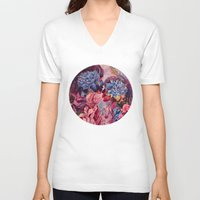 vonnegut V-neck T-shirts featuring everything was beautiful, nothing hurt by Gabrielle Agius
