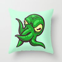 cthulhu Throw Pillows featuring Cthulhu by Artistic Dyslexia