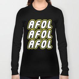 AFOL AFOL AFOL [ADULT FAN OF LEGO] in Brick Font by Chillee Wilson Long Sleeve T-shirt