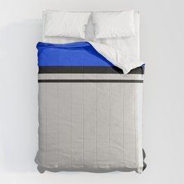 Cross Lines in blues Comforters