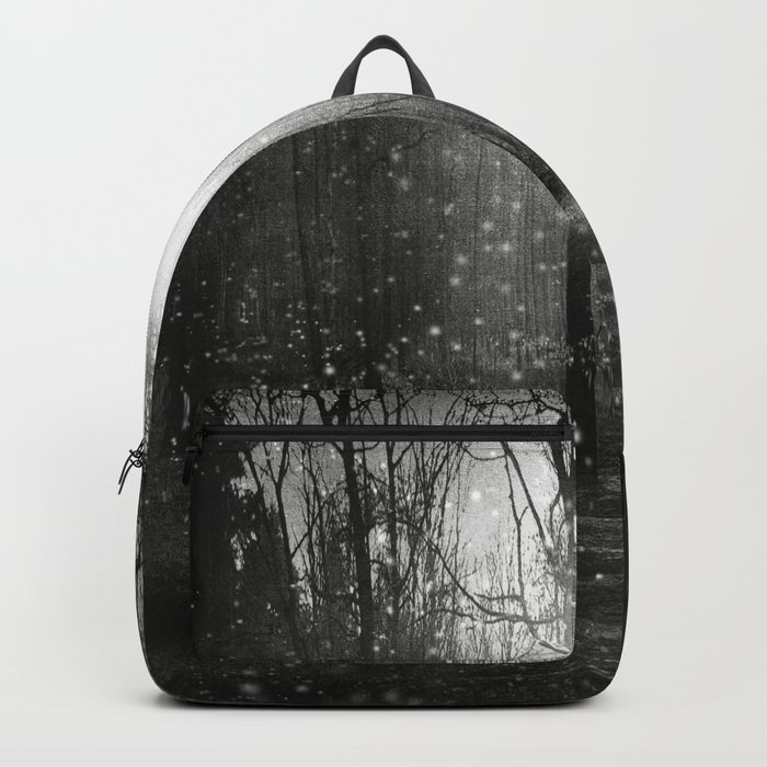 Black and White - In seed time learn, in harvest teach, in winter enjoy Backpack