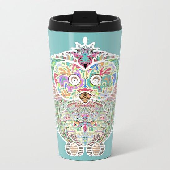 RAINBOW OWL Metal Travel Mug