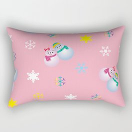 Snowflakes & Pair Snowman_B Rectangular Pillow