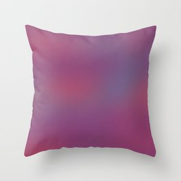 Deep Berry Purple Abstract Sunset Throw Pillow