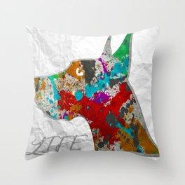 Great Dane Dog - That's Life HUGE PRINTS Throw Pillow