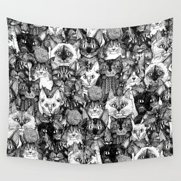 CHRISTMAS CATS Wall Tapestry